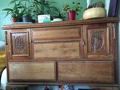 Beautiful Rosewood antique Carved Large Sideboard/ Linen Cupboard