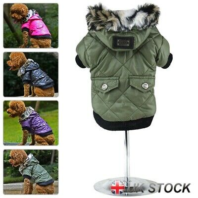 Winter Warm Puppy Dog Clothes Pet Dog Cat Coat Hoodie Jacket Thick Apparel