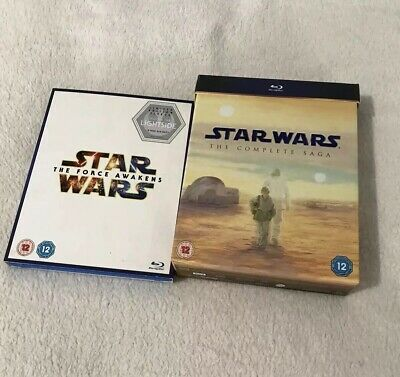 Star Wars - The Complete Saga (Blu-ray, 2011, 9-Disc Set, Box Set) Force Awakens