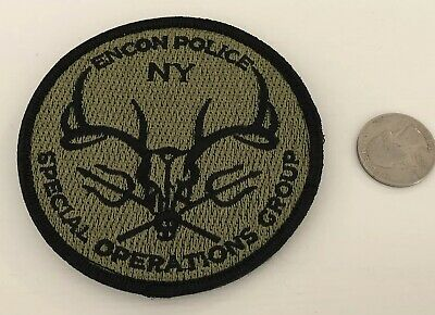 NY New York Environmental Police ENCON SOG Swat patch HOOK AND LOOP BACKING