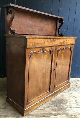 Antique Victorian Walnut Chiffonier Sideboard 2 Door Cabinet Buffet DELIVERY*