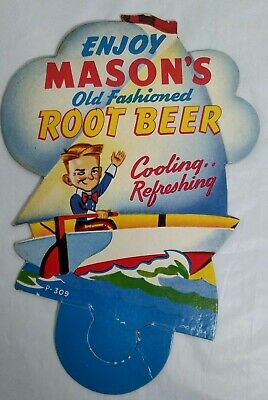 Masons Old Fashioned Root Beer Bottle Topper Soda Advertising