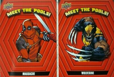 2019 Upper Deck DEADPOOL Trading Card Set MEET THE POOLS !  MTP 1 - 18