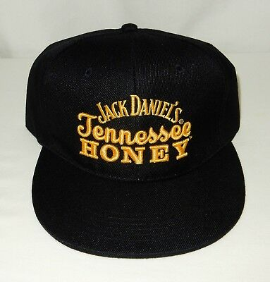 Jack Daniels TENNESSEE HONEY Snapback HAT CAP Black Gold Embroidered NEW