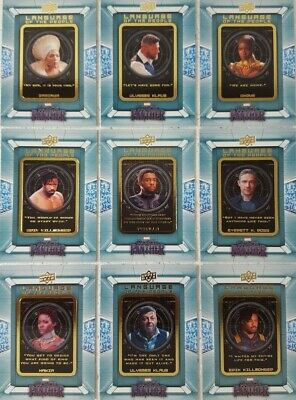 2018 Upper Deck BLACK PANTHER Movie Trading Card Set LANGUAGE of THE PEOPLE  9