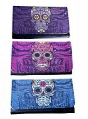 1 x Candy Skull Tobacco Pouch Brand New