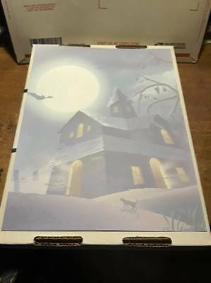 25 Sheets Computer Stationary   Halloween Haunted House  8-1/2 x 11