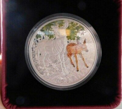 2015 $20 Fine Silver Coin-White -Tailed-Deer.