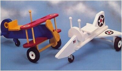 Toy Biplane and Jet Plane DIAGRAM Woodworking Plans W10003 - NOT FINISHED ITEMS