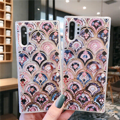For Samsung Galaxy Note 10+ S10E S9 Dynamic Quicksand Fish Scale Soft Case Cover