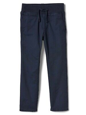 GAP Kids Boys Chino Pull On Jogger Pants Trousers Age 13-14 Years NEW Basic Navy