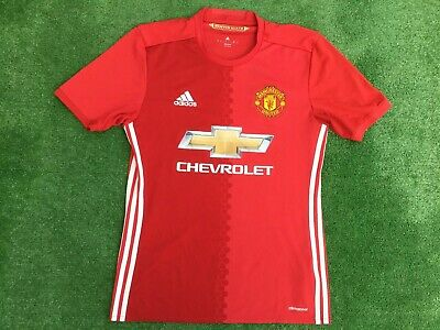 Manchester United 2016 - 17 Home Football Shirt Adidas Size Small Adult