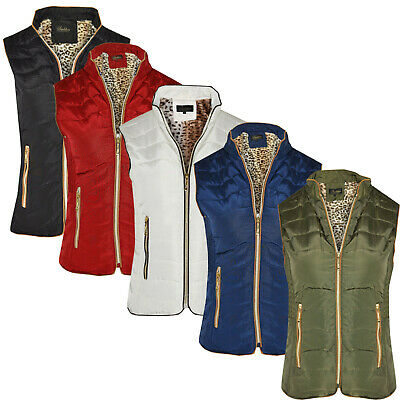 Ladies Winter Gilet Bodywarmer Womens Puffer Fur Padded Quilted Coat Jacket S-4X