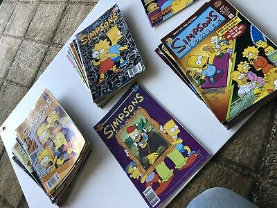 30 X Simpsons Comic Books Bulk Bongo Comics Matt Groening
