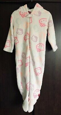 Hello Kitty Print White All In One / Sleepsuit / 1Onesie / Pyjamas Age 3 Years