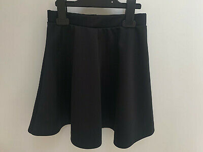 Girls ex River Island Plain Black Skirt Age 7-8 Years Old