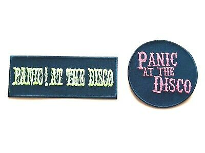 TWO DEPECHE MODE PATCHES SEW IRON ON CLASSIC ROCK MUSIC a