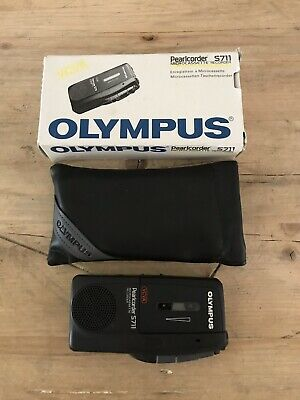 Olympus Pearlcorder S711 Microcassette Recorder Dictaphone Dictation Boxed