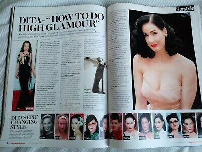 Dita Von Teese Heat Magazine 11-17 October 2008 Tease Burlesque Striptease