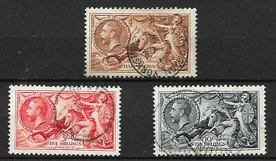 GB KGV SG450 451 452, Waterlow Re-Engraved Seahorse Set of 3, Very Fine CDS Used