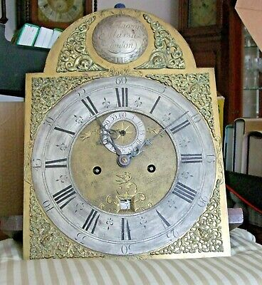 Super 8 day ,five pillar brass dial and movement Anthony Marsh London circa 1760