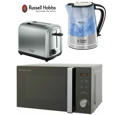 Russell Hobbs Kettle and Toaster & Microwave Brita Kettle 2-Slot Toaster Silver