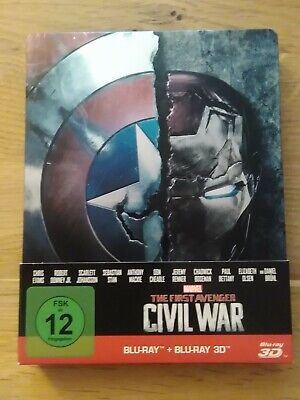 MARVEL'S  THE FIRST AVENGER CIVIL WAR / Blu-ray Steelbook  3D + 2D / NEUWERTIG !