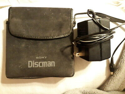 Sony Discman D-25 With Case and Power Supply Tested and Working