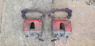Ford Fiesta ST ST50 MK6 Pair of front brake calipers & carriers red N/S O/S