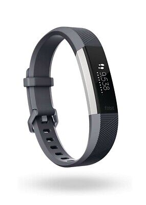 Fitbit Alta HR Heart Rate Activity Tracker, Size Large - Blue Grey - Brand New