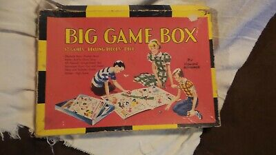 Vintage Saalfield 50's 12 Kid's Paoer Board Games Boxed 6 Double Sided Sheets