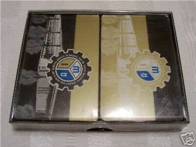 AIW Allied Industrial workers double deck sealed playing cards