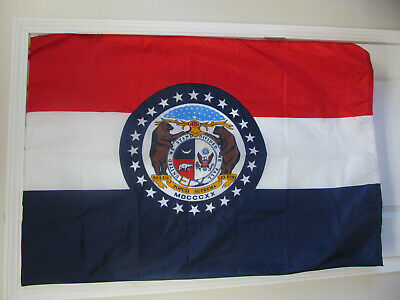 Missouri State Flag 3'x5' Annin Nyl-Glo 100% USA. FREE SHIP Never Used Read!