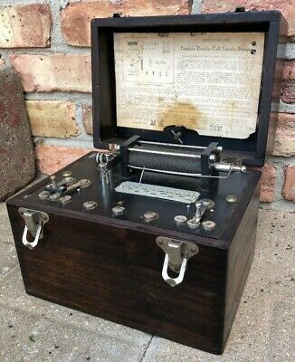 Antique Portable Double Cell Faradic Battery Quackery Machine Medical Vintage