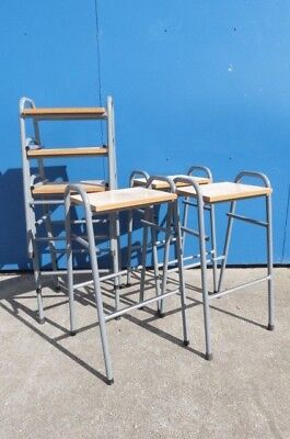 Retro/Vintage Stacking School/Lab Stools