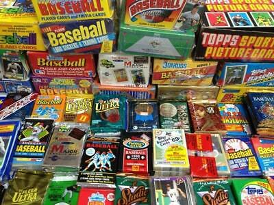 Huge Lot Of Unopened Baseball Card Packs!