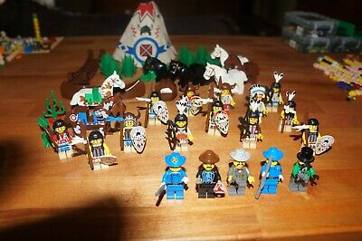 lego minifigures lot indians cowboys western