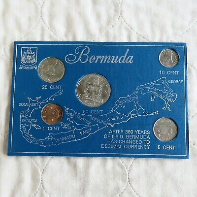 Bermuda 5 Coin Uncirculated Decimal Tourist Set