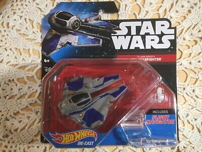 New Star Wars Hot Wheels OBI WAN KENOBI JEDI STARFIGHTER. Inc. Flight Navigator.