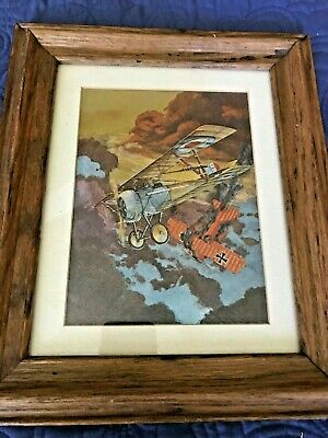 Vintage Dufex Print of World War I Aircraft Printed in England
