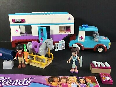 Lego Friends 41125 Horse Vet Trailer 100% Complete W/ Manual