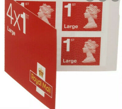 Royal Mail 1st Class Large Letter Booklet Of 4. Brand New & Unused.