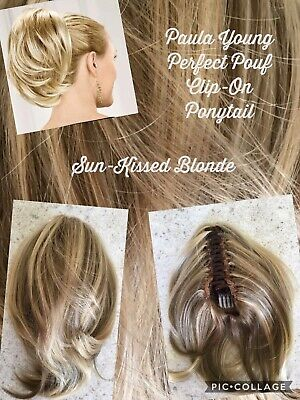 Paula Young Perfect Pouf Ponytail Clip On Sun-Kissed Blonde Good Cond (C-636)