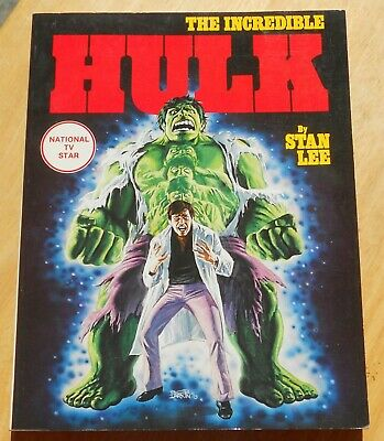 THE INCREDIBLE HULK  paperback comic book National TV Star Stan Lee 1978