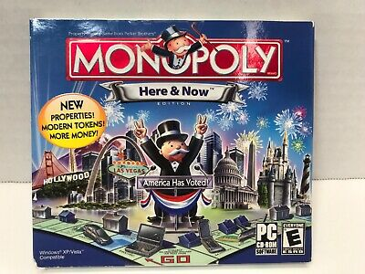 Monopoly: Here & Now PC CD-Rom 2007 Windows board Game New Sealed NIB Old Stock