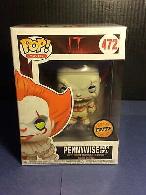 Funko Pop! IT Pennywise #472 Chase RARE VAULTED With Protector.