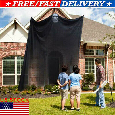 US 10.8x6.5ft Halloween Ghost Hanging Decorations Scary Spooky Decor for Outdoor