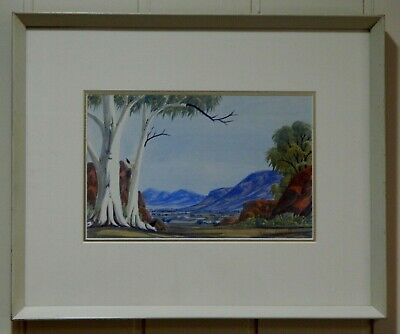 Watercolour of Central Australia , by Listed Aboriginal Artist , Clem Abbott ,