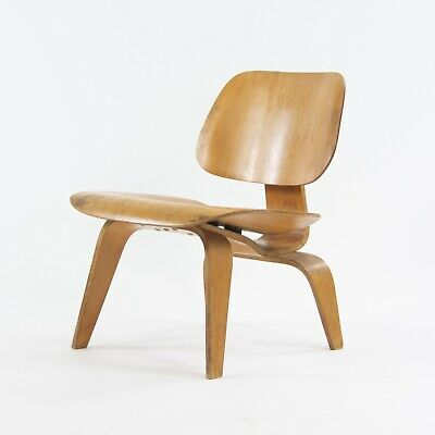RARE 1946 Charles and Ray Eames Evans Herman Miller LCW Lounge Chair Wood Ash