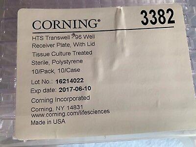 2 x Pack 10 Corning HTS Transwell 96 Well Receiver Plates  # 3382